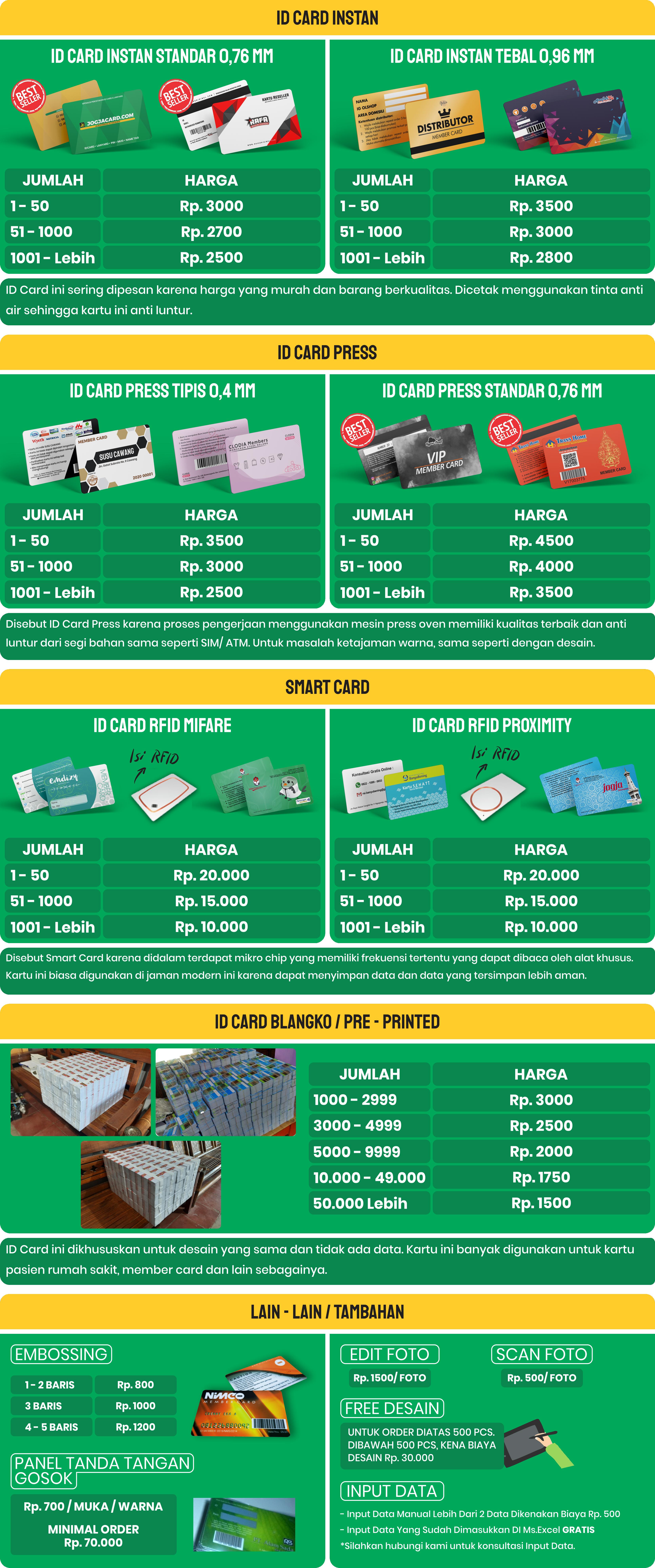 daftar harga idcard